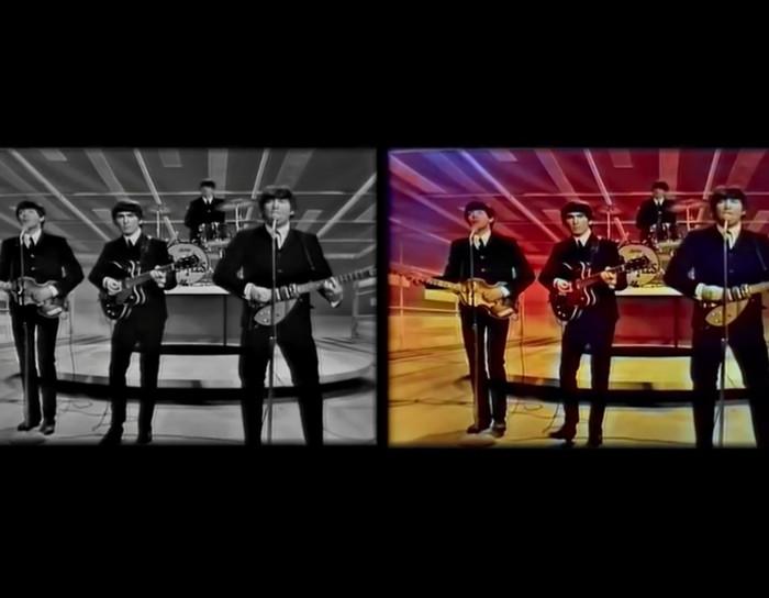 Számítógéppel színezték ki ezt a felvételt a The Beatles-ről! Nézd meg, milyen lett.