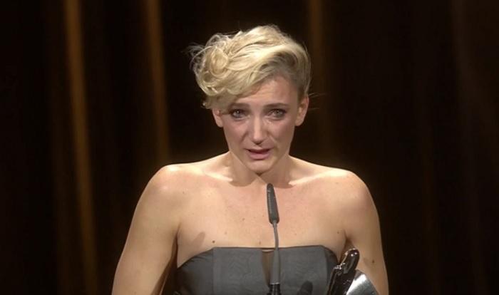 Így vette át Borbély Alexandra a legjobb színésznőnek járó díjat