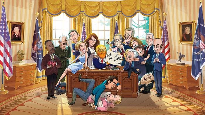 Őrült animációs vígjáték Donald Trumpról