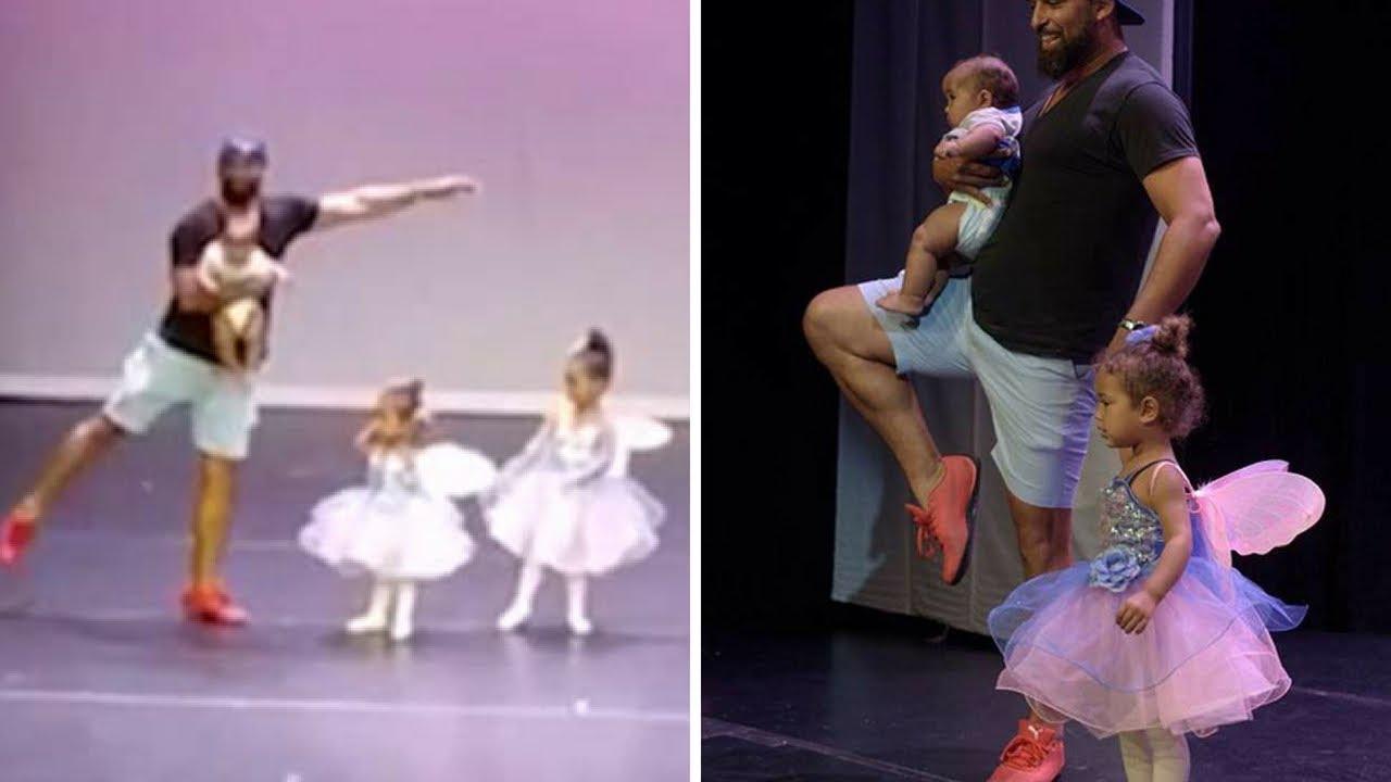 Ez az édesapa a nap hőse! Színpadra sietett, hogy bepánikolt kislányával balettezzen