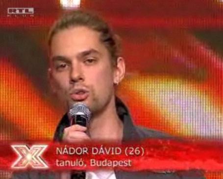 X-Faktor: Nádor Dávid – Against All Odds – Doily.hu