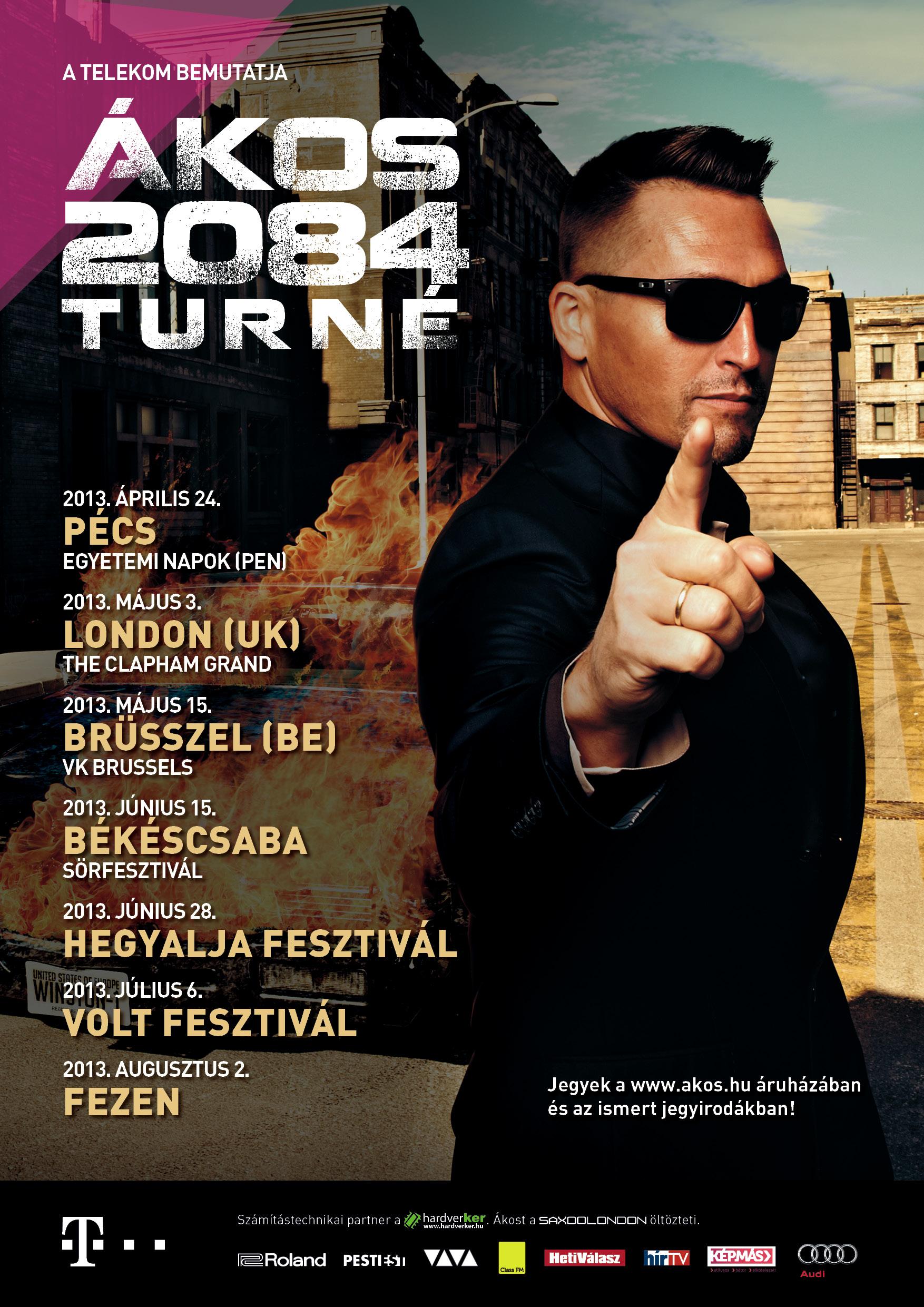 2084 - Plakat A3 - turne helyszinek - TCOM