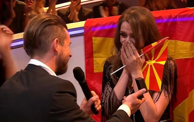 Eurovízió 2017: Élő adásban kérték meg Macedónia képviselőjének kezét!