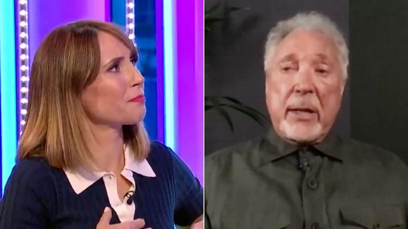 Elsírta magát a műsorvezető, amikor Tom Jones a felesége halálról beszélt!